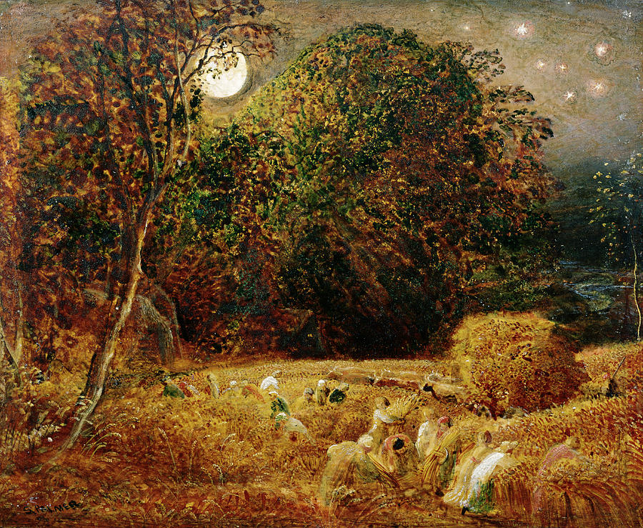Harvest Moon by Samuel Palmer.