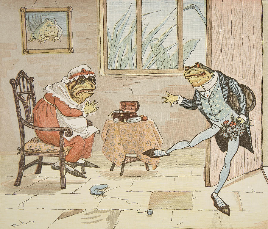 A Frog He Would A Wooing Go by Randolph Caldecott.